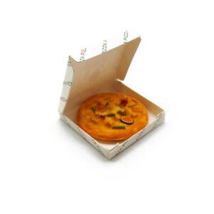 Dollhouse Miniature 1:6 Resin Pizza Paper Box Emulational Food Accessory