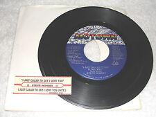 "Stevie Wonder ""I Just Called To Say I Love You"" 45 RPM, 7"" Single,+Jukebox Strip"