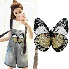 Big Butterfly Pattern CARTOON Sequined Embroidered Sew-on Patch Clothe Applique