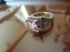 #146--VINTAGE STERLING SILVER RING-925--SIZE-8--LOOKS LIKE A 100000.00 DOLLAR