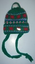 """Bear/Doll Clothing Christmas Decoration knitted Toque with pompom green 4"""""""