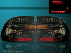 "03-06 PORSCHE CAYENNE ""L.E.D."" TAIL LIGHTS LED SMOKE 2003 2004 2005 2006"