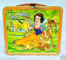 Lot of 3 Vintage Lunch Boxes - Barbie - Peanuts - Snow White & The Seven Dwarfs