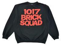 Vintage 1017 Brick Squad Crewneck Sweater Black Size XL Gucci Mane