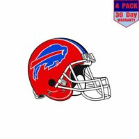 Buffalo Bills Helmet 4 Stickers 4x4 Inch Sticker Decal