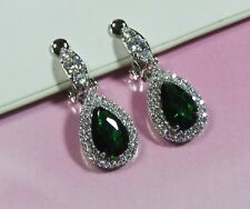 Crystal and Cubic Zirconia Sparkly Clip On Earrings