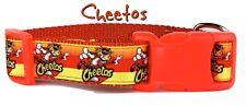 "Cheetos dog collar handmade adjustable buckle collar 1"" or 5/8"" wide or leash"