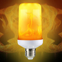 LED Flame Effect Fire Light Corn Bulb E27 9W Simulated Nature Flicking Lamp New