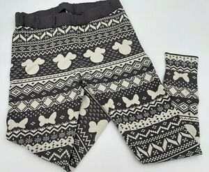 Disney Mickey Mouse Pants Lounge Pajama Women's Size 1 Med/Large Stretch Gray