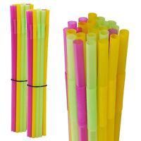 Large Long Jumbo Mega Straws Multi Coloured Party Drinking Birthday Celebration