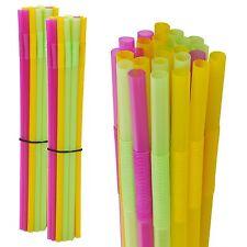 Large Long Jumbo Mega Straws Multi Coloured Party Drinking Birthday Celebration 25