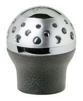Sumex Lift Up Reverse Genuine Black Leather & Silver Gear Stick Knob - Speedster