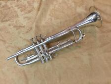 Pre-War Fabrication Francais Perfectionee Silver Plated Trumpet by Besson-c.1925
