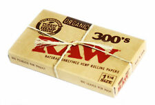 1 pack RAW 1 1/4 Natural unrefined and ORGANIC Hemp Rolling paper 300 leaves