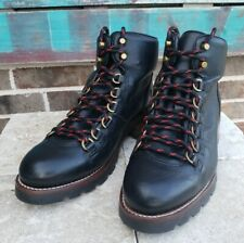 NEW Womens FRYE Alta Hiker Combat Boots BLACK, Size US 9 B MSRP $488 76695