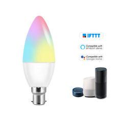 V16-C Smart WIFI LED Bulb RGB+W LED Candle Bulb 6W B22 Dimmable Light Phone W6Z2