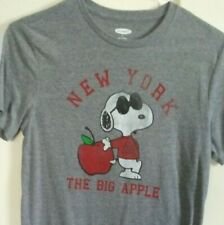 SNOOPY NEW YORK THE BIG APPLE T SHIRT ADULT SIZE S