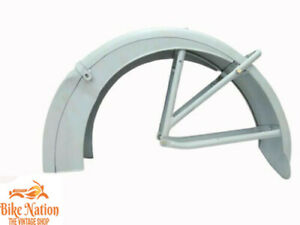 ARIEL SQUARE FOUR 1938-1948 VALANCE REAR MUDGUARD RAW STEEL + STAYS  Fit For