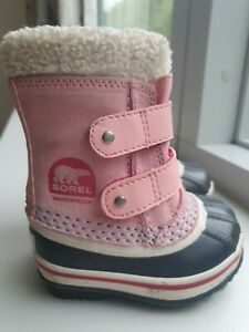 Sorel Baby Child Boots 21 UK 3