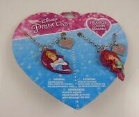 Disney Princess Cinderella and Arrielle Ariel Heart  BFF Best Friends necklace