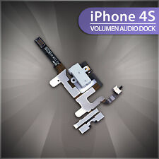 Auriculares con hembra para Apple iPhone 4s Audio Jack cable Flex interruptor Mute vibrador