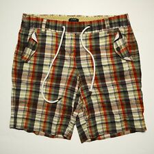 J. CREW women's board shorts s 8 CITY FIT plaid drawstring bathing suit trunks