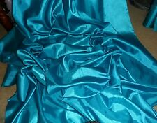 """1 MTR TURQUOISE POLYESTER  SILK LINING FABRIC..44 """"WIDE"""