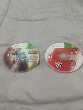 Lot of 2 WWE Games 2K15 WWE12 Microsoft Xbox 360 Wrestling Disc Only