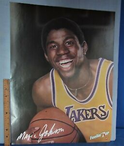 Magic Johnson ~ 7up Promo Photo Poster ~ 1980