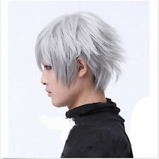 Hew Vogue Tokyo Ghouls Ken Kaneki Cosplay Wig man Short Halloween Party Wigs