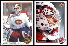 1992-93 Andre Racicot | LOT x2 | OPC Premier #11 | Upper Deck #430 | Canadiens