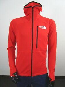 Mens The North Face Summit L2 Powergrid LT (Proprius) Fleece Hoodie Jacket Red