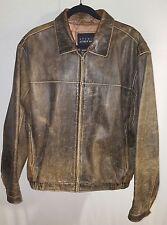 VTG Studio Andrew Marc/Wilson's Leather Full Zip Brown Leather Jacket Mens (L)