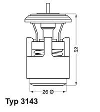 Termostato refrigerante-Wahler 3143.87d