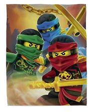 Lego Ninjago Ready Fleece Blanket Bed Throw Matches Bedding