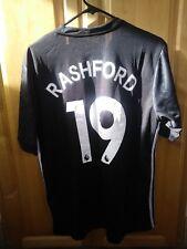 Adidas Manchester United Away Jersey & Shorts 2018 Men's L #19 Rashford BNWT!