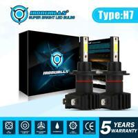 IRONWALLS LED Headlight H7 Bulbs Kit Car Lamp High or Low Beam 6000K Xenon White