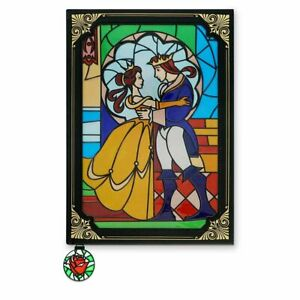 Disney Archives Beauty and the Beast Stained Glass Style Journal, NEW