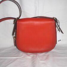 NWT Coach Saddle Bag 23 Burnished Glovetanned Leather Pepper Color 38198 $395