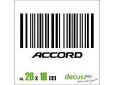 EAN ACCORD STRICHCODE XL 1221 // Sticker JDM Aufkleber Frontscheibe