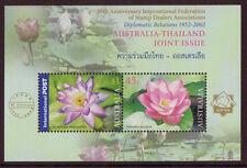 AUSTRALIA 2002 AUSTRALIA THAILAND MINIATURE SHEET UM, MNH IFSDA OVERPRINT
