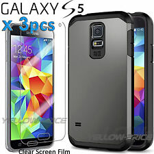 Samsung Galaxy S5 [+Full HD Screen Films] Heavy Duty Dual Layer Hybrid Case CA