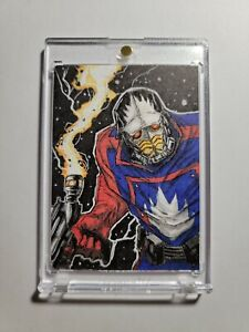 2014 Marvel Masterpieces Jusko Star Lord Sketch Ian Quirante 1/1 Inspired By 93