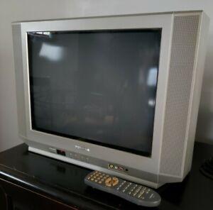 "Toshiba 20AF42 20"" Inch CRT Gaming Flatscreen TV 3 Av Input w Remote Ships Now!"