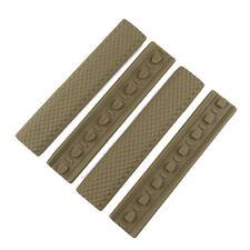 4 pieces Tactical KeyMod Rubber Soft Rail Cover Tan Color