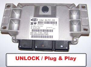 Control Unit Citroen C4 Peugeot 307 1,4l 88PS IAW6LP2.05 SW9659099180 Unlock ECU