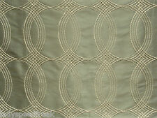 Harlequin Curtain Fabric SPIRAL 4.75m Oyster - Retro Embroidery Design 475cm