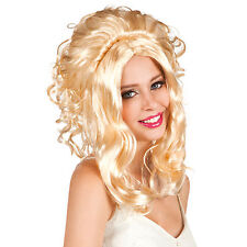 Blonde Lilly Rose Stylish Full Head Fancy Dress Curly New Party Wig Top Quality