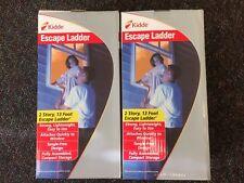Lot of 2 Kidde 468093 Kl-2S Two Story Fire Escape 13 ft Ladder *Ships Free*