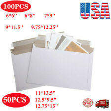 Pack of 50-100 Rigid Shipping Mailers Paper Envelopes Bags W/Self-adhesive Strip
